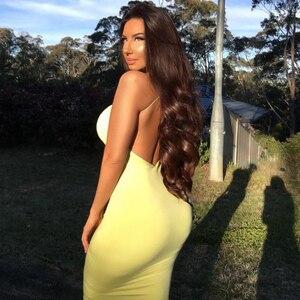 Image 3 - Colysmo 女性エレガントなサマードレスホワイトロングドレスセクシーなクラブ摩耗スパゲッティ背中オレンジカジュアルパーティードレス黄色