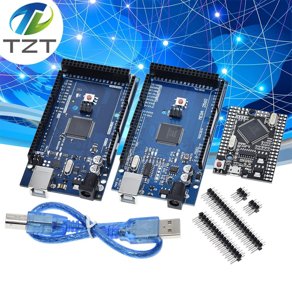 USB-плата MEGA2560 MEGA 2560 R3 (ATmega2560-16AU CH340G) AVR, макетная плата mega2560 REV3 с логотипом для arduino