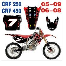 חדש צוות גרפיקה רקע מדבקות ערכות מדבקות להונדה CRF250 CRF450 CRF 250 450 2005 2006 2007 2008 2009