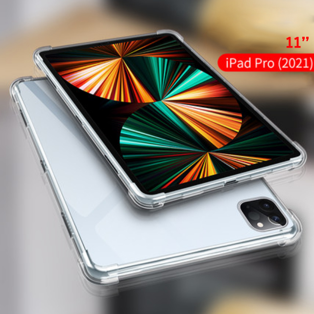 For iPad Pro 11 2021 Red Silicon Case For iPad Pro 11 inch 2021 Clear Transparent Case Soft TPU Back Cover Tablet