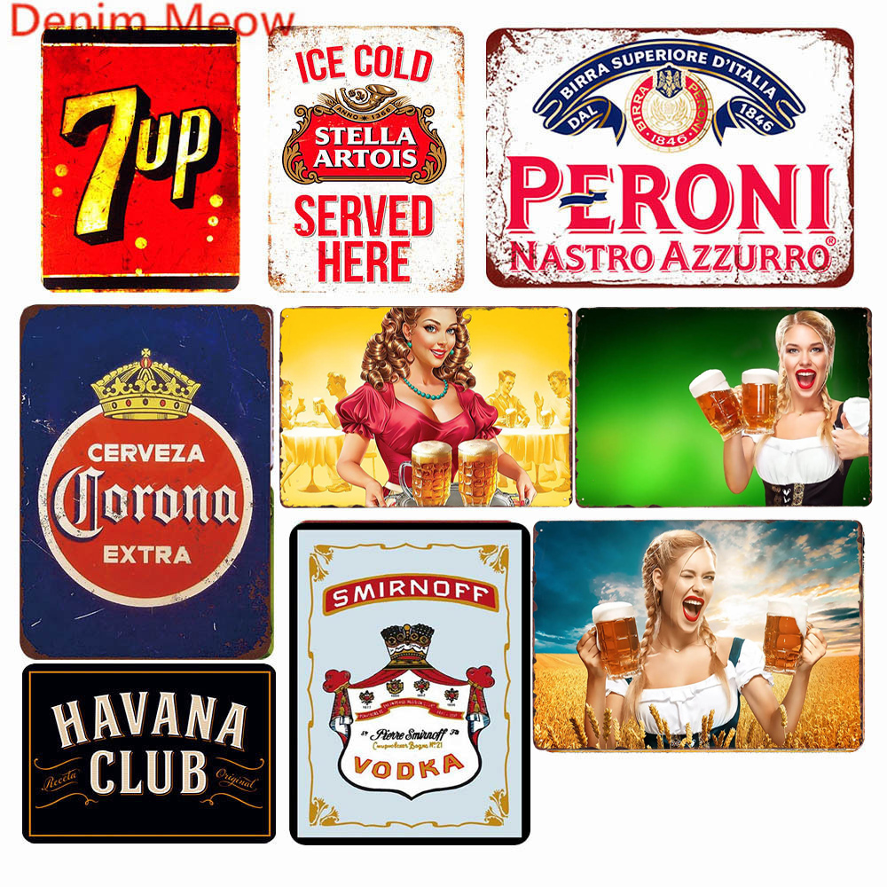SUMIK Guys No Shirt No Service Girls No Shirt Free Drinks Metal Tin Sign Vintage Art Poster Plaque Party Bar Pub Home Wall Decor