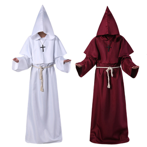 Image 2 - Plague Doctor Costumes for Men Monk Cosplay Plague Doctor Maske Steampunk Robe Priest horror Wizard Halloween Witch Dress Women