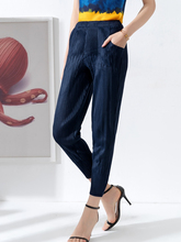 Lady pleated trousers 2019 Summer Skinny Ninth pants Womens Hallen Pink fold