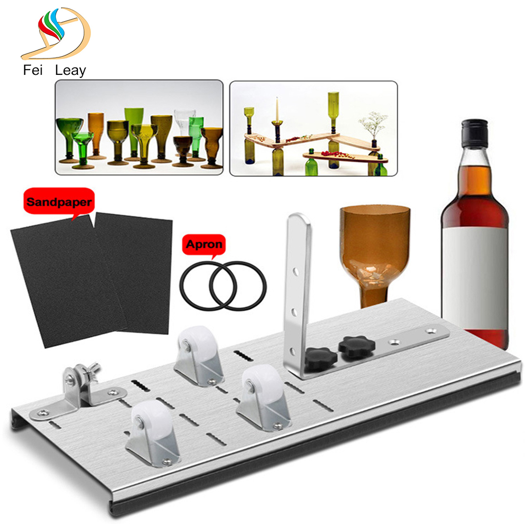 Glass Bottle Cutter Cutting Thickness Better Cutting Control Create Glass Sculptures Machine Cutting Wine Beer Cutting Machine