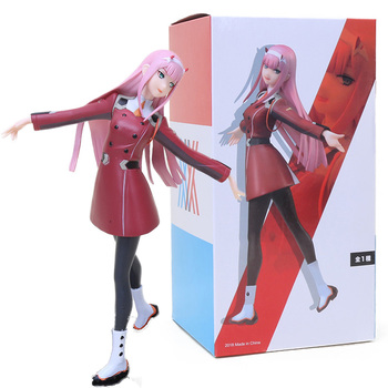 21cm Anime DARLING in the FRANXX Action Figure Zero Two 02 Figurine  PVC Collectible Model Toys Doll Christmas Gifts 21cm undead warlock action figure 1 8 scale painted figure windrunner doll pvc acgn figure garage kit toys brinquedos anime