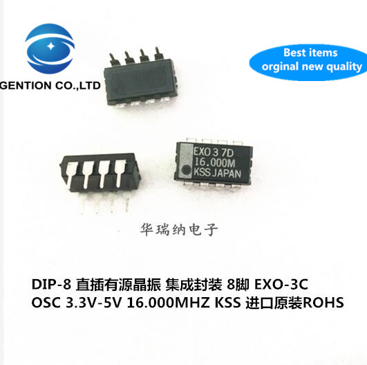 2pcs 100% New And Orginal In-line Active Crystal OSC DIP-8 EXO-3 ECS-300C 16MHZ 16M 16.000MHZ