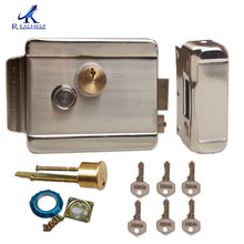 Gate-Lock Hock-Roll Electric with Double-Cylinder-Locks for 12V Iron Wooden Brass Solid
