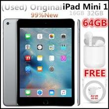 (Used iPad,99%New)Original Apple iPad Mini 1 16GB 32GB 64GB Wifi, ios 9.35,100% Working Condition,FREE Bluetooth Earphone.