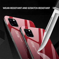 silicone case 11 Pro Max 6 7 8 Plus X XS XR Luxury Phone Case For iPhone Gradient Tempered Glass Protective Case Hard Back Soft Silicone Cover (2)