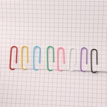 200PCS color paper clip office supplies 28MM