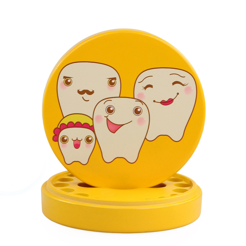 Baby Baby Tooth Box Wooden Baby Tooth Collection Commemorative Box Baby Hair Baby Tooth Storage Box Lucky Color Gift