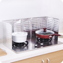Масляный барьер, плита, алюминиевая фольга, масляный блок, кухонные принадлежности, противоразбрызгивание масла, перегородка для приготовления пищи, теплоизоляция