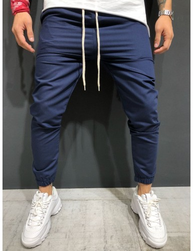 Men Pants 2019 New Men's Woven Fabric for Casual Jogging Trousers with Ankle Girdle 1