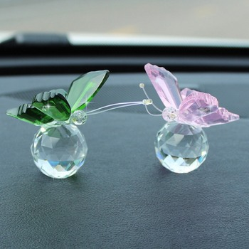 Cute Crystal Butterfly Glass Crafts Natural Stones Animal Figurines Home Desktop Decor Ornaments Wedding Souvenir Gifts 1
