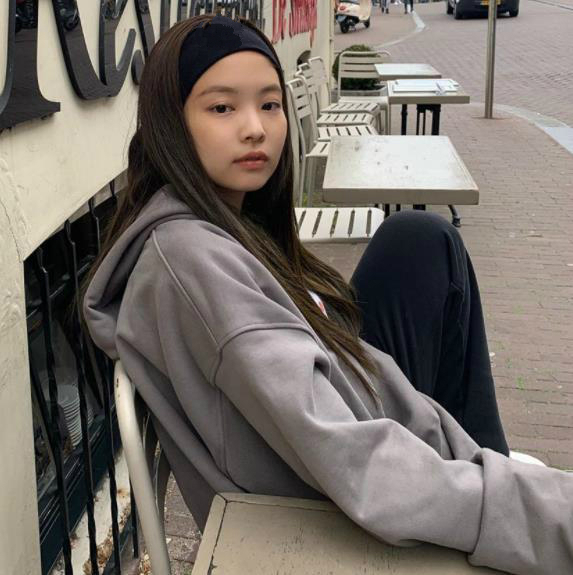 Kpop Blackpink JENNIE Same Loose Hooded Drawstring Large Pocket Hoodies Women Korean Streetwear Harajuku Sweatshirt Girl Clothes