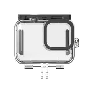 Image 4 - 50 متر مقاوم للماء واقية الغوص الإسكان غطاء ل Go Pro بطل 9 الأسود