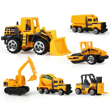 6pcs/set Alloy engineering car tractor toy model farm vehicle belt boy toy car model children's Day Xmas gifts значок норильск металл эмаль ссср 1970 е гг