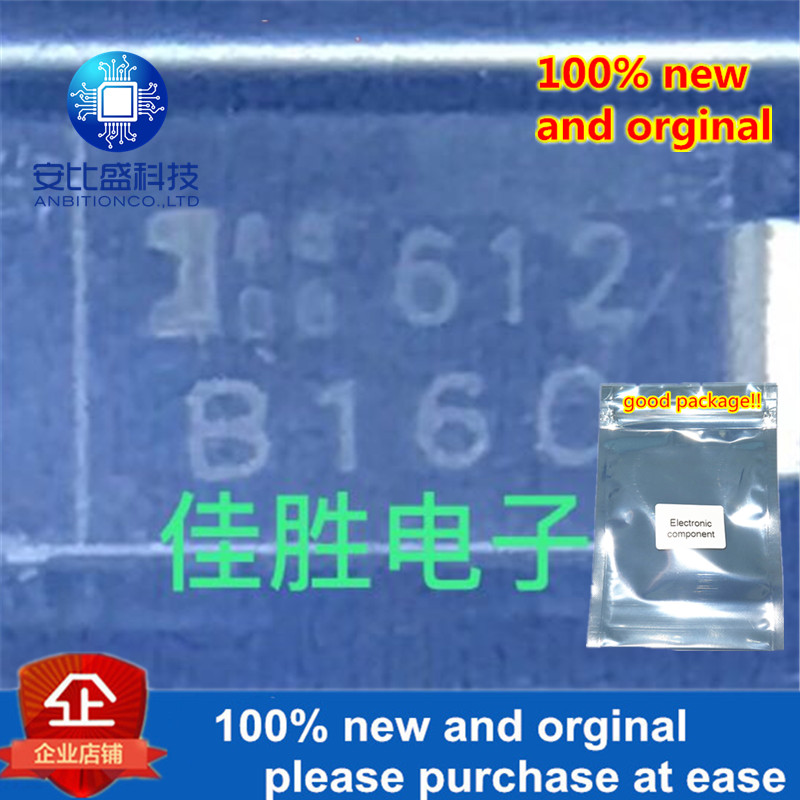 100pcs 100% New And Orginal 1A60V Low-pressure Schottky Diode DO214AC Silk-screen B160 In Stock