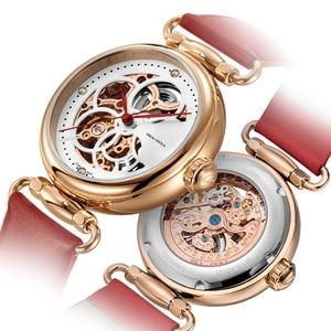 Image 2 - Seagull mechanical watch women fashion watch Leather strap Waterproof automatic watch Full hollow mechanical watch 811.11.6002L