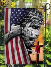 Американский флаг с узором в виде элемента домашний и Садовый