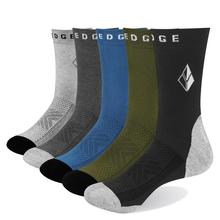 YUEDGE brand mens breathable combed cotton high quality dress socks colorful casual fashion