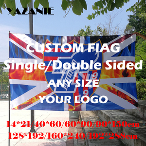 Image 2 - YAZANIE 60*90cm/90*150cm/120*180cm/160*240cm Design Logo Custom Flag Large Company Sport Flying Flag World Cup Customize Banners
