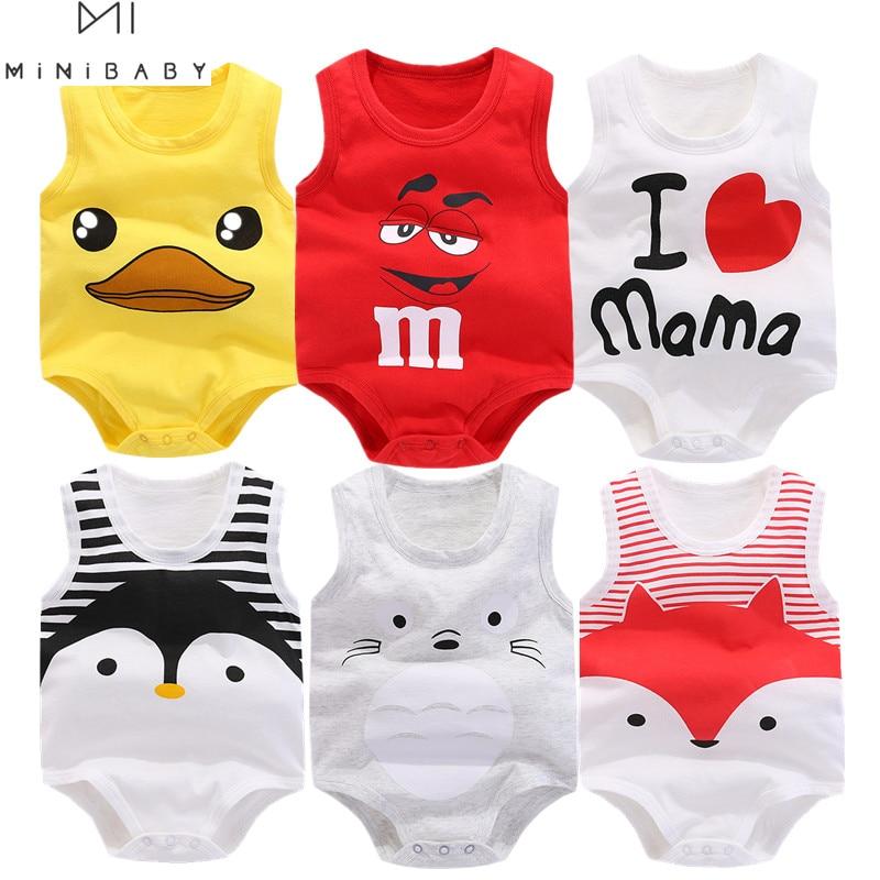 Summer Sleeveless Bodysuit Newborn Baby Boy Bodysuit Cotton Funny Swimsuit Body Baby Girl Costume Orangemom Minibabies Store