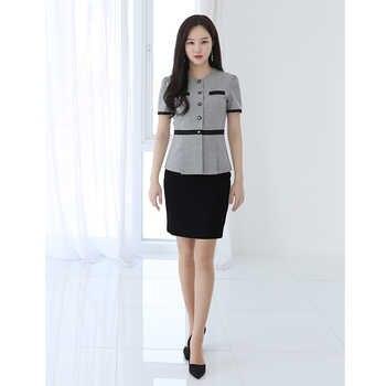 Cosmetologist set stylish temperament high-end professional dress Korean version of the hotel manager front desk uniform