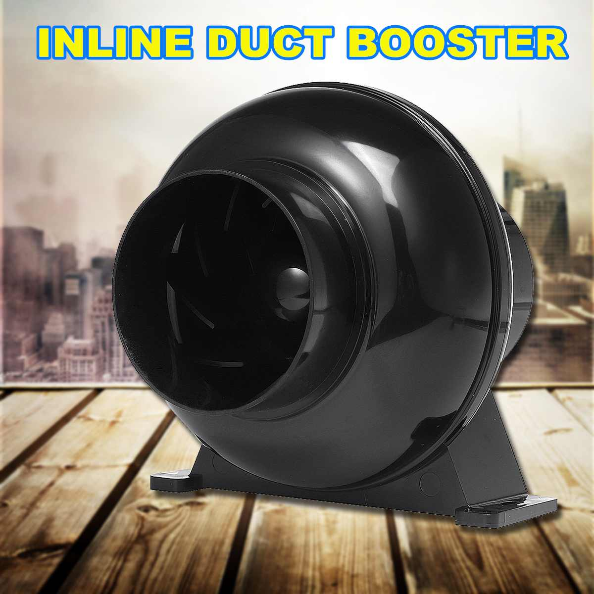 32W Duct Fan Exhaust-Fan-Blower Ventilation Exhaust Air Blower Cooling Fan Inline Duct-booster Ventilator Air Extractor 4 Inch