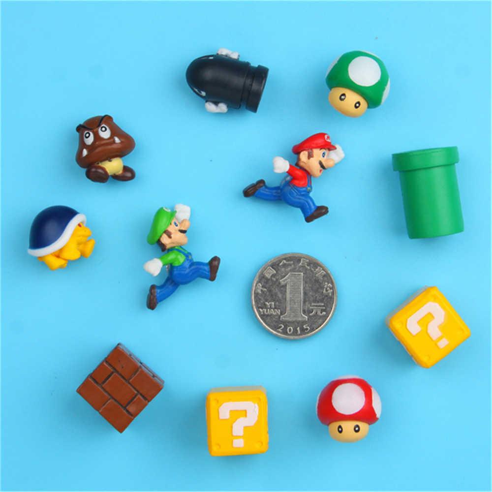 Imanes de Super Mario Bros en 3D para el hogar, decoración para refrigerador, imán de pared, pegatina para hombre, niña, niños, juguetes para niños, regalo de cumpleaños