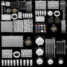 300 adet silikon döküm kalıpları ve alet takımı karışık stil takı epoksi döküm kalıpları alet takımı takı yapımı için DIY