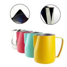 Stainless Steel Frothing Pitcher Pull Flower Cup Coffee Milk Frother Latte Art Milk Foam Tool Coffeeware new цена и фото