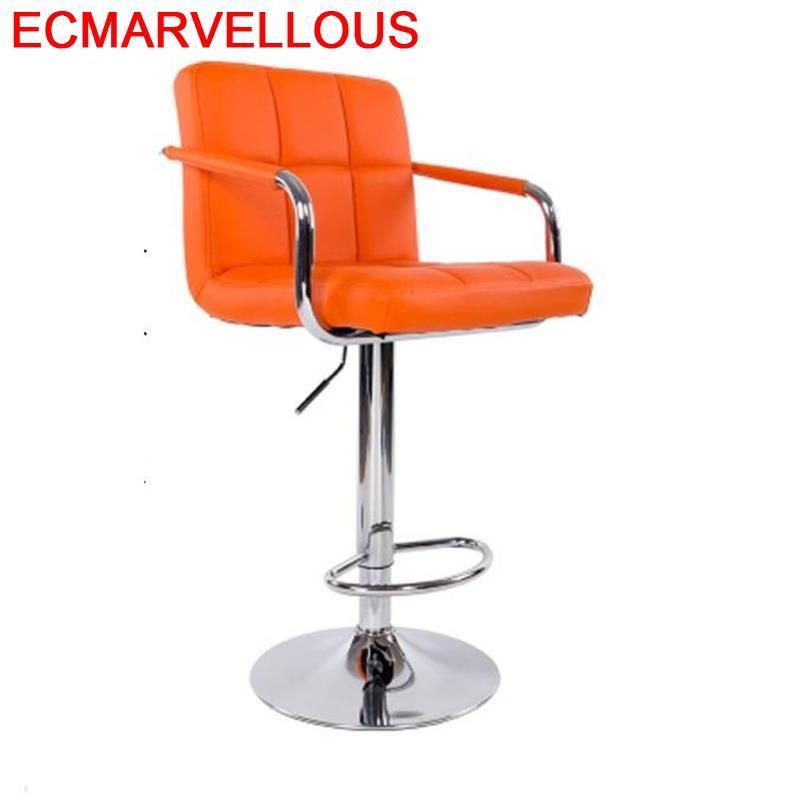 Ikayaa Bancos Moderno Banqueta Sandalyeler Sedia Barkrukken Hokery Sgabello Leather Cadeira Silla Tabouret De Moderne Bar Chair