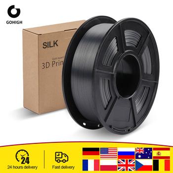 GOHIGH PLA Filament pla silk sfect 1KG do drukarek 3D Filament 1 75MM 330M 2 2lbs jedwabna tekstura wkłady z materiału biodegradowalnego tanie i dobre opinie SUNLU CN (pochodzenie) solid SILK PLA 1pcs Filament 0 03MM 200-230℃ 1KG Roll 3D Printer 3D Pen Vacuum bag packing 1 75 3 0MM