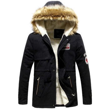 Parka Men Hot Sale Winter Jacket Men Thick Slim Fur Hooded Outwear Warm Coat Casual Solid Brand Outwear Clothing Plus Size S-4XL