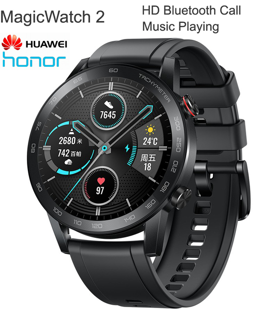 2020 Huawei HONOR MagicWatch 2 Smart Outdoor GPS Sports Coach AMOLED Display Bluetooth Call Heartrate Monitoring Music Play