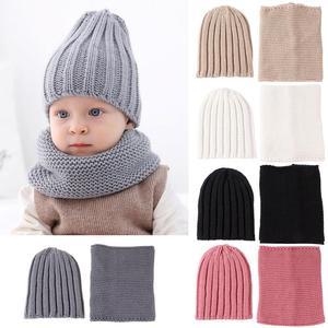 2 шт./компл. милая, для младенцев-мальчиков и девочек пряжа вязаное Покрывало «Русалочка», зимняя теплая шапочка шапка; шарф теплый комплект, ...