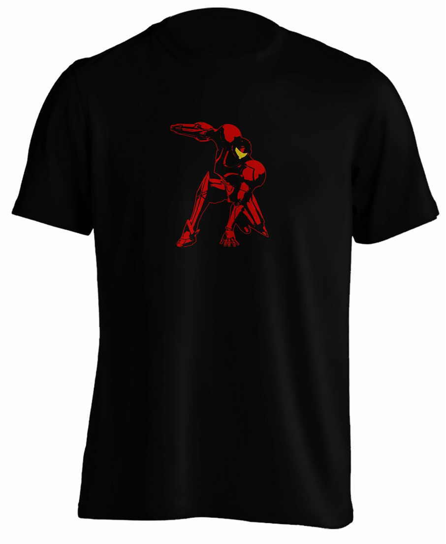 Samus Aran Super Metroid Game T Shirt Tee Retro Gaming Funny Design Tee Shirt image