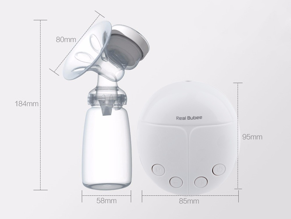 Real Bubee Electric Breast Pump with Milk Bottle and Breast Therapy Pack for Breast Feeding 24