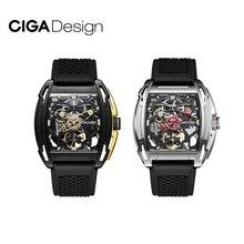 CIGA Design ساعة ميكانيكية للرجال ، سلسلة Z ، إصدار كشاف ، مؤشر تروس ، مقياس مضيء ، 3atm ، مقاوم للماء