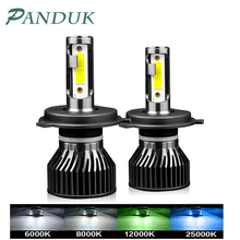 PANDUK H4 H7 LED Auto Scheinwerfer Birne 12000LM 6000K H1 H3 H8 H9 H11 H27 880 9005 HB3 9006 HB4 Lauf Auto Nebel Kopf Lampe