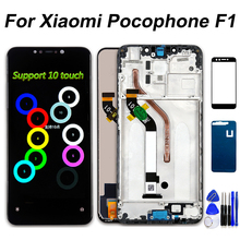 6.18 inch LCD For Xiaomi Pocophone F1 Display Touch Screen Digitizer Frame 10 Point Touch Assembly For Xiaomi Poco F1 LCD