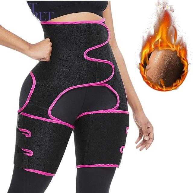WAIST SECRET Woman Sweat Thigh Trimmers Leg Shaper Fajas Neoprene Slimming Belt Control Panties Fat Burning Wraps Thermo Belt