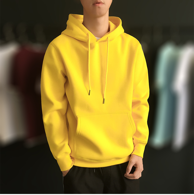 2020 yellow Autumn Winter Sweatshirts Hot Sale Fashion Icon Mens Hoodies Warm Pullovers Casual Hip Hop Hoody New Men Tracksuit