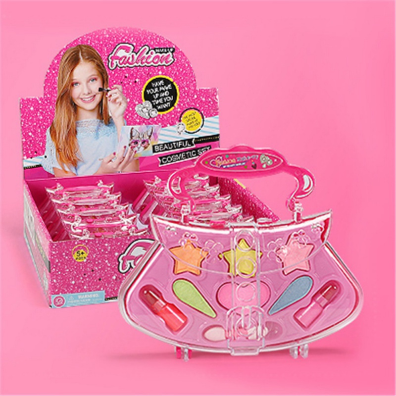 New Kid  Children Make-up Girl Non-Toxic Cosmetics Beauty Toys Pretend Play Princess Makeup Box Set
