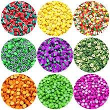 Perles en argile polymère pour la fabrication de bijoux, 30 pièces/lot, perles de fruits de 10mm, couleur mixte, perles d'espacement pour la fabrication de colliers et bracelets