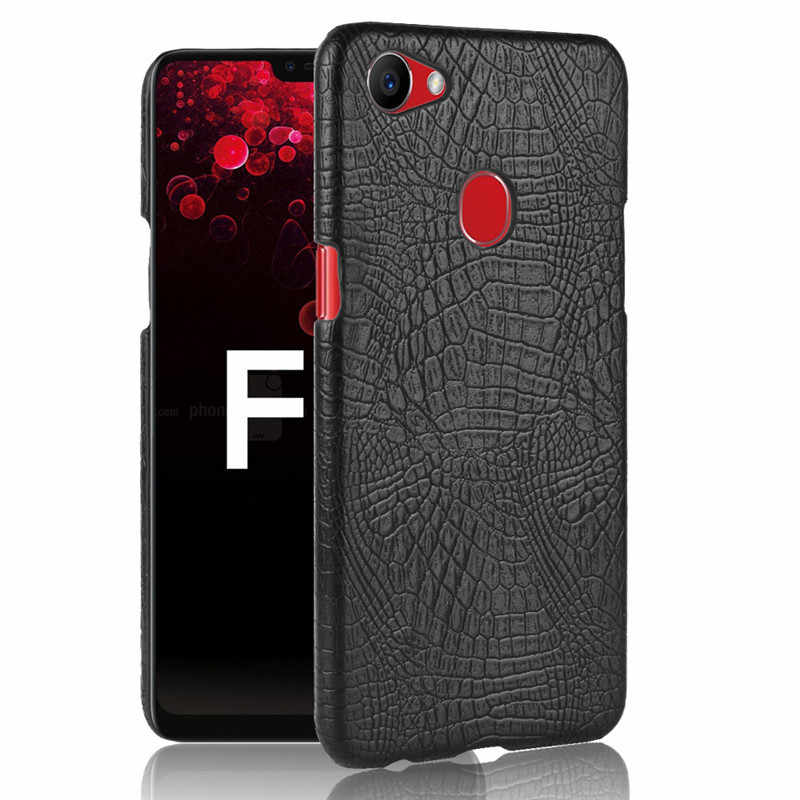 For OPPO F7 Case OPPO F7 CPH1819 CPH1821 Case Luxury Hard PU Crocodile Leather Back Cover Phone Case For OPPO F7 F 7 OPPOF7 Case