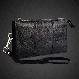 Image 1 - Genuine Leather Handbag For Iphone 11 11Pro X XS Max Case Belt Pouch Coque For Iphone XR  6 7 8 Plus SE 2020 Case Wallet Pocket