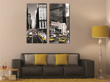 Modern Minimalist Decorative Painting New York City Landscape Suitable for Living Room Bar Bedroom