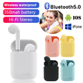 Мини-2 Наушники-вкладыши TWS беспроводные наушники Bluetooth 5,0 наушники спортивные наушники гарнитура с микрофоном для iPhone, Samsung, HUAWEI, Xiaomi MI